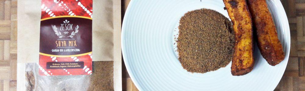 Suya Mix panierte Kochbananen